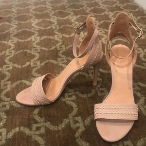 """JOIE Taupe 3.5"""" heel w Ankle strap. Size  37 1/2"""